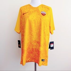 🆕 Nike Authentic Roma Italy Soccer Jersey Yellow